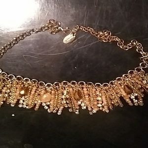 Jewelry - NWOT. GOLD COLORED WITH CRYSTAL ACCENTS XX BEADS